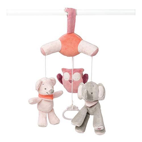 Nattou Mini Mobile avec Peluches Musicales Adèle et Valentine, Berceuse Douce \