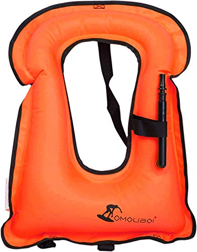 OMOUBOI Snorkel Vest Inflatable Buoyancy Vest for Adults Kayak Inflatable Vests for Snorkeling Swimming Paddling Boating Water Sports Beginner Adults-Only 88-220 lbs