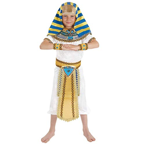 Fun Shack Déguisement Pharaon Garçon, Déguisement Halloween Enfant en Taille M