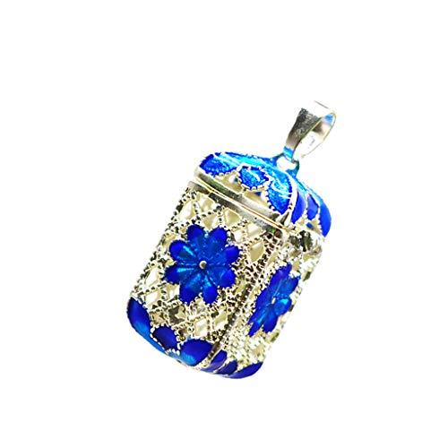 yotijar - Colgante con difusor de aceite con aroma a bolígrafo medallón, flor de cobre