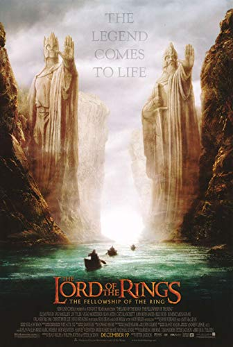 LORD OF THE RINGS FELLOWSHIP OF THE RING MOVIE POSTER 1 Sided BOATS Version 27x40
