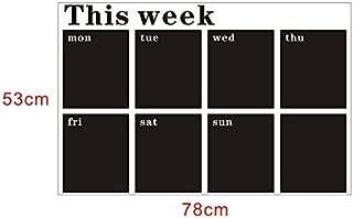 53X78 Week Plan Calendar Chalkboard MEMO Blackboard Vinyl Wall Sticker