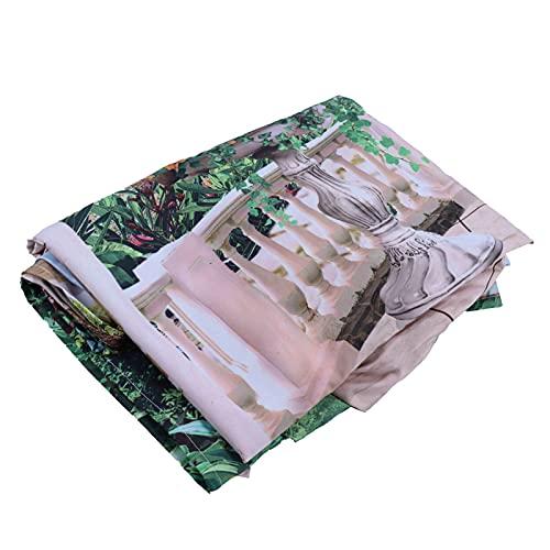 Zhjvihx Tapiz de Paisaje, 7.5 x 5.9 pies Tapiz de Bosque con Hojas Verdes de Lagos para Playa y tapetes de Yoga para decoración del hogar para porches para Decorar Cortinas