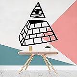 wZUN Ojo triángulo Pegatinas de Pared decoración del hogar Pegatinas de Pared decoración Sala de Estar Dormitorio decoración de Pared móvil 28X31cm