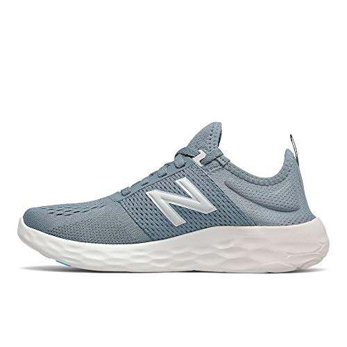 New Balance womens Spt V2 Running Shoe, Ocean Grey/Logwood/Silver, 12 Wide US