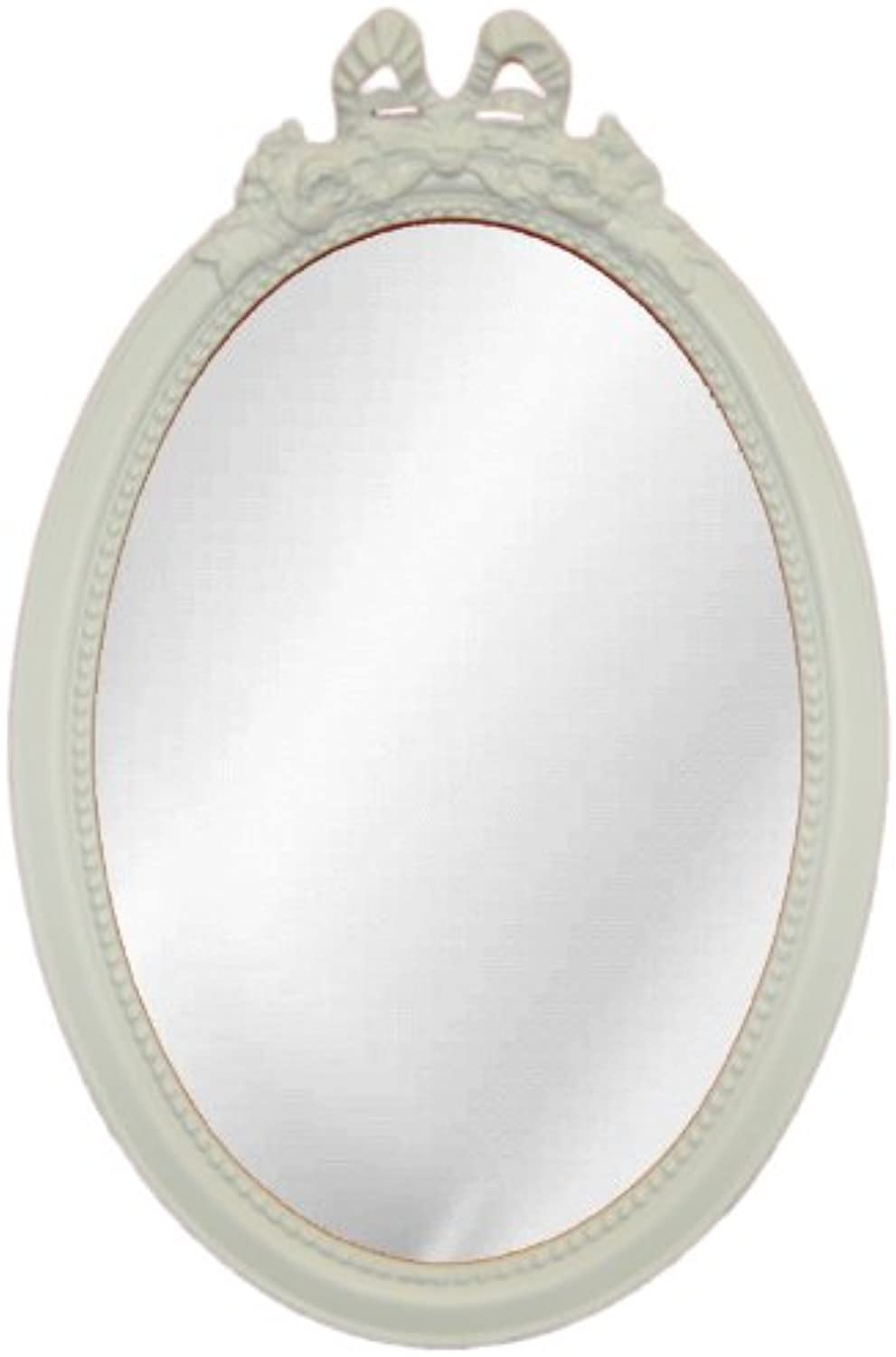 Hickory Manor House Oval with Bow Mirror with Pecan Shell Resin, Bright White
