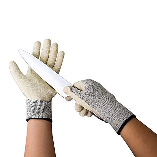 Snijbestendige handschoenen, handschoenen van klasse 5, getextureerde latex gecoate beschermende handschoenen, ontworpen voor taken met betrekking tot ruwe voorwerpen en scherpe randen