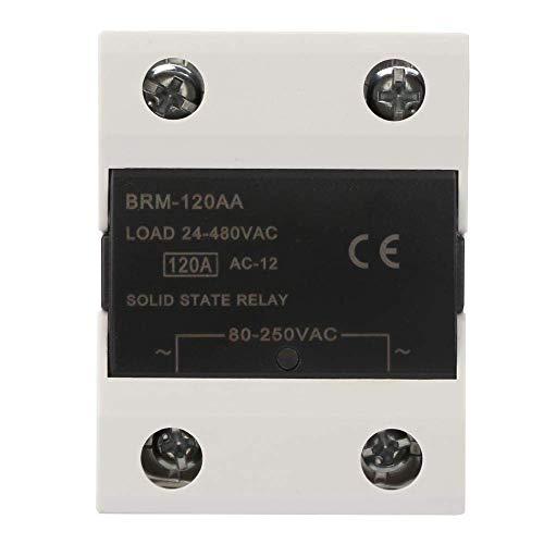 BJLWTQ Relay, Módulo de relé 24-480VAC SSR relé de Estado sólido for Las Luces de señales, semáforos, CNC mecánica Sistema de Control Remoto (BRM-120aa)