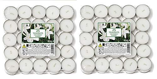 Price\'s Candles 021961D Aladino Jasmin Duft-Teelichter, 50 Stück