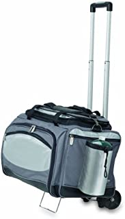 ONIVA - a Picnic Time Brand Vulcan All-In-One Tailgaiting Cooler/BBQ Set with Trolley