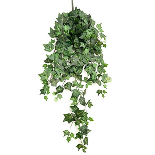 Demarkt Simulación de flores artificiales de plástico para colgar en la pared de habitaciones, decoración de hojas para el aire acondicionado.