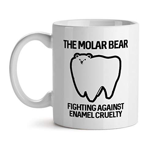 N\A Der Molar Bär Kampf gegen Emaille Grausamkeit Zahnschmerzen Problem - Inspirierende einzigartige beliebte Büro Tee Kaffee Tasse Geschenk