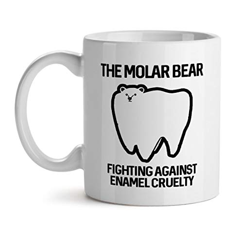 Der Molar Bär Kampf gegen Emaille Grausamkeit Zahnschmerzen Problem - Inspirierende einzigartige beliebte Büro Tee Kaffee Tasse Geschenk