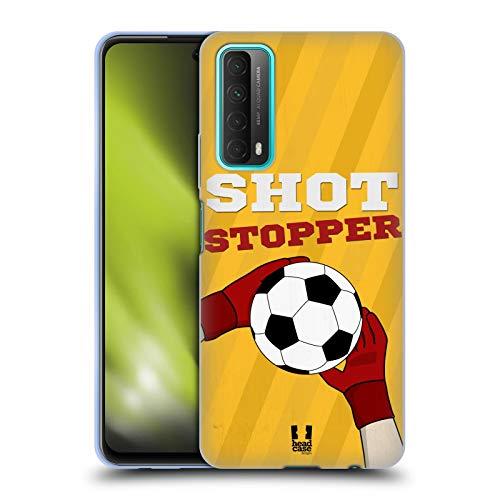Head Case Designs Freno De Tiro Declaraciones de Fútbol Carcasa de Gel de Silicona Compatible con Huawei P Smart (2021)