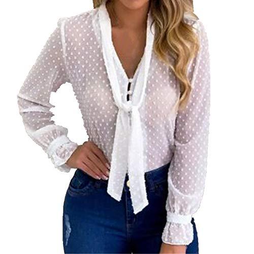 Verano gasa Tops mujeres rosa blusas y camisa dulce estilo oficina mujeres manga larga camisa