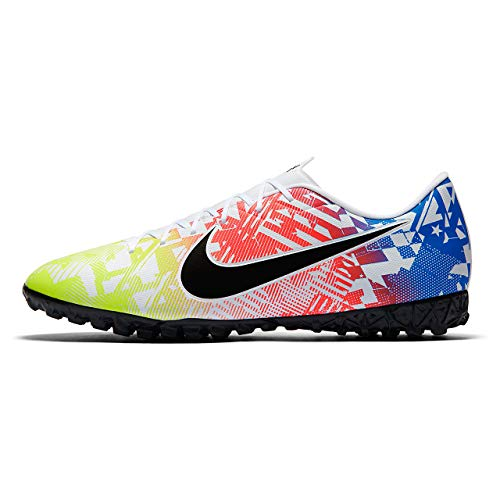 Nike AT7995-104, Sneaker Unisex Adulto, Blanco/Negro-Racer Blue-Volt, 44.5 EU