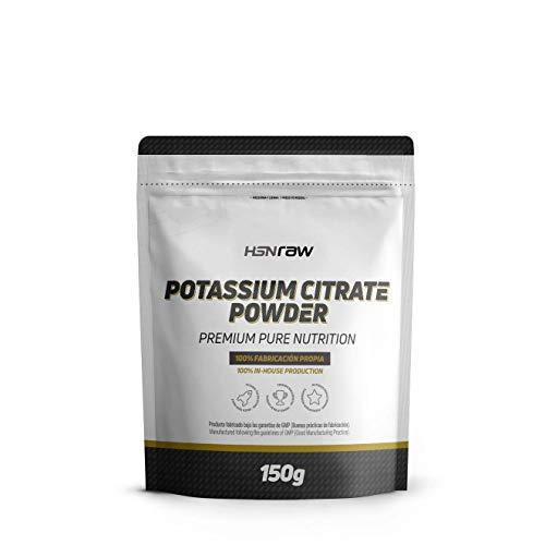 Citrato de Potasio de HSN | Potassium Citrate Powder | Mineral Esencial + Máxima Biodisponibilidad + Polvo Puro + Sin Añadidos | Vegano, Sin Gluten, Sin Lactosa, 150 gr
