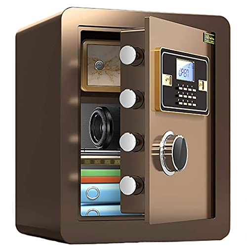 XiYou Security Safe Box, Electronic Digital Security Safe Box with LED Display,Cabinet Safe for Home Office Hotel Personal Keep Money Cash Or Document,Size: 38x33x45cm