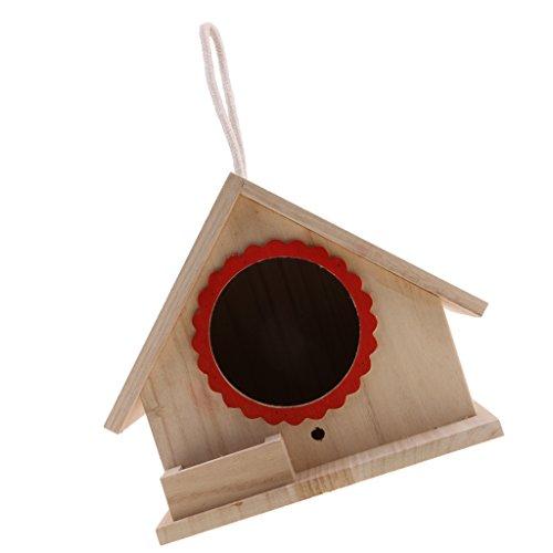 Sharplace Boîte Nid d'oiseaux Animaux Sauvages Nichoirs Décoration Maison avec Corde en Bois - 20x 23x 18cm