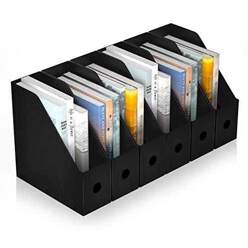 ABClife Porta Revistero para Archivos,6PCS Organizador de Archivos de Plástico Resistente al Agua, Estante de Revistero Archivador Excelente para el Escolar, Almacenamiento de Archivos en el Hogar
