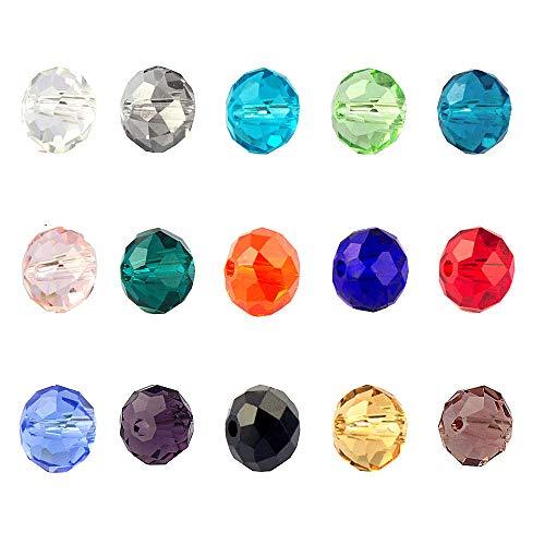 LolliBeads (TM) - Lote de 4 mm de cuentas de cristal facetad