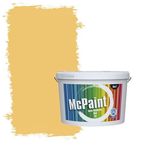 McPaint Bunte Wandfarbe matt für Innen Wüstengelb 5 Liter - Weitere Gelbe Farbtöne Erhältlich - Weitere Größen Verfügbar