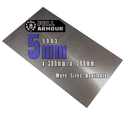 Piastra in alluminio 5083, spessore 5 mm, 300 mm x 200 mm (30cm x 20cm)