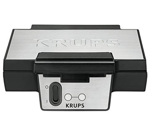 Krups Gaufrier FK Noir/Inox Appareil à Gaufre Gaufrier...