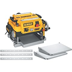 "Your purchase includes One Stationary 13"" Planer, in/out feed tables, extra blades and dust hose adapter. Stand is not included. Planer dimensions: 24"" L x 22"" W x 18"" H. Depth capacity: 6-Inch. Max depth cut: 1/8-Inch. Width capacity: 13-Inch. Tool ..."