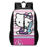 SYYY Mochila 17 Pulgadas, Sailor Kitty Bolsa Grande para computadora portátil Viaje Senderismo Mochila para Hombres Mujeres Trabajo Escolar
