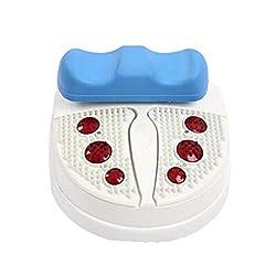 Foot Massager,Mini Smart Swing Exerciser Chi Machine Electric Professional Foot Massager Fitness Blood Circulation Machine Foot Leg Massager,Blue