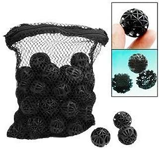 CNZ® 50pcs Black Aquarium Fish Tank Filter Bio-Balls Filtration Media, 1-inch