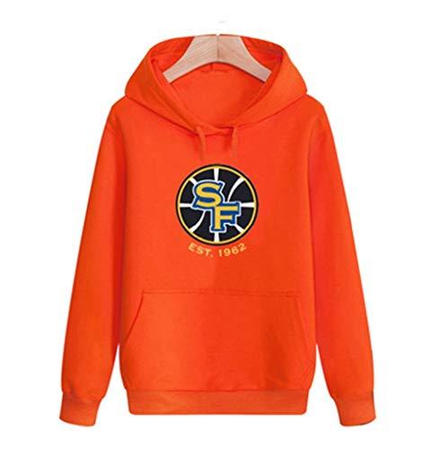 Shelfin NBA Jerseys NBA Trui met lange mouwen Sweater met capuchon Mannen Sport En Vrije tijd Trui, Oranje