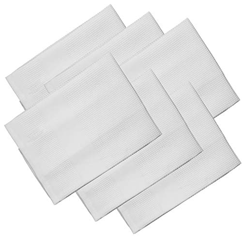 Microfaser Geschirrtücher 68 x 42 cm aus Polyester in 4 verschiedenen Farben, Farbwahl:Weiß, Set-Größe:6-teiliges Set