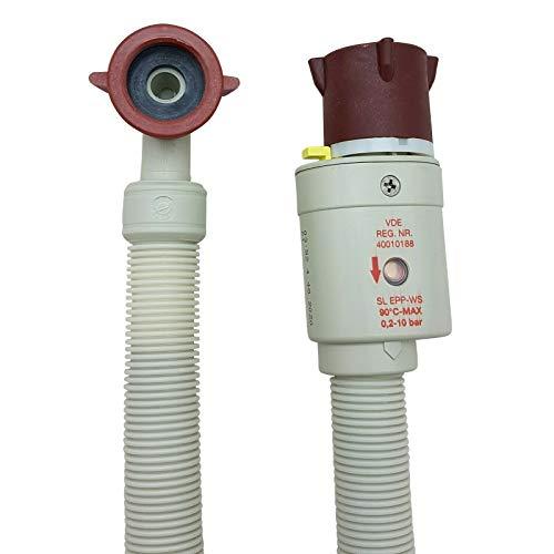 Aquastopschlauch Sicherheitszulaufschlauch 2796 Schlauchanschluss 3/4 Zoll für Waschmaschine und Geschirrspüler Aquastopp Wasserstopp, Größe: 2,5m