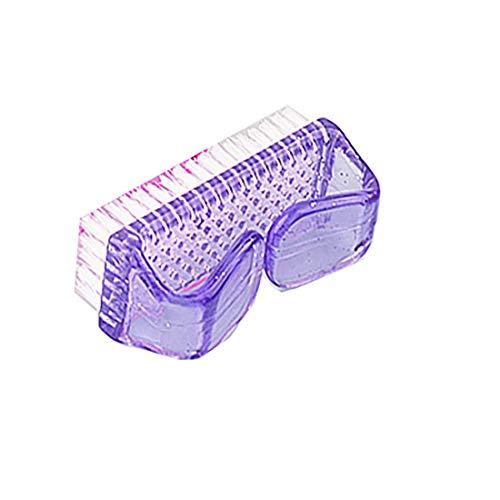 1pc Poignée Brosse à Ongles Nail Récurage Nettoyage Des Mains Ongles Brosse Art Nettoyage Outils De Nettoyage à Poils Doux Ongle (Violet)