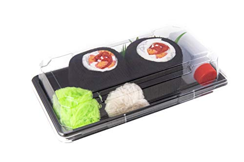 Rainbow Socks - Damen Herren - Sushi Socken Shrimp Maki - Lustige Geschenk - 1 Paar - Größen 36-40