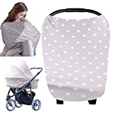 Carseat Canopy Cover - Baby Car Seat Canopy KeaBabies - All-in-1 Nursing Breastfeeding Covers Up - Baby Car Seat Canopies for Boys, Girls - Stroller Covers - Shopping Cart Cover (Starry Charm)