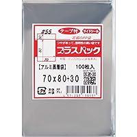 OPP袋 プラスパック 55μx70x80+30 ( テープ付 アルミ蒸着 袋) 【 30,000 枚】