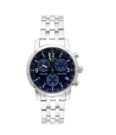 TISSOT PRC 200 T17.1.586.42 GENTS caja de acero inoxidable cronógrafo reloj de fecha