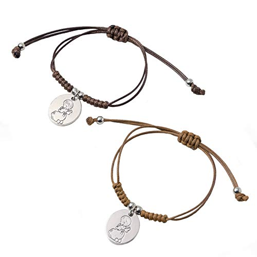 Mopec Braided Cord Bracelet with Angel Medal First Holy Communion Details. Pack of 12, Brown (1)