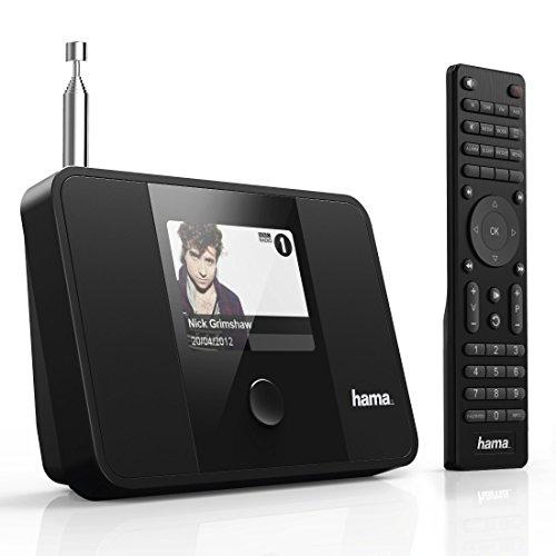 Hama digitaler Radio Tuner (Internetradio DAB+, WLAN/LAN, UKW/FM, UPnP/Bluetooth Streaming, zur Erweiterung von HiFi-Anlagen, Multiroom, App, Fernbedienung, 3,2 Zoll Farbdisplay, Digitalradio) schwarz