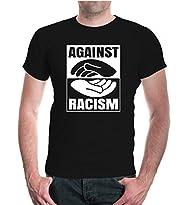 T-Shirt Against Racism Größe S bis 3XL, in weiß und wschwarz verfügbar