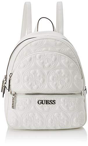Guess Manhattan Backpack Borsa a Zainetto da Donna, Bianco, Taglia Unica