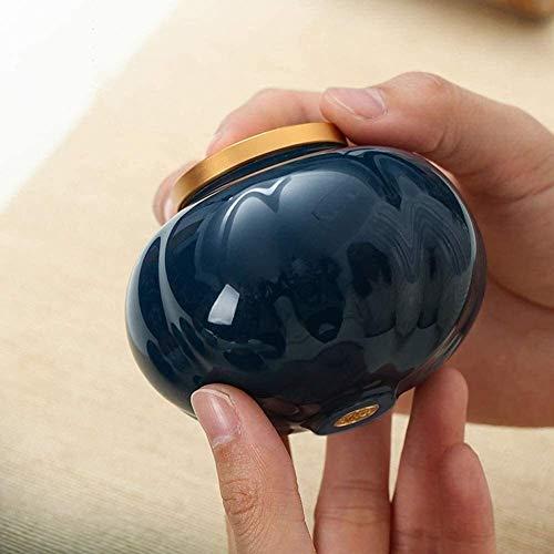 Souvenirs para Mascotas pequeñas Urnas de cerámica multifunción Decoraciones de Almacenamiento Multicolor 3.14x2.55 (Color: A)
