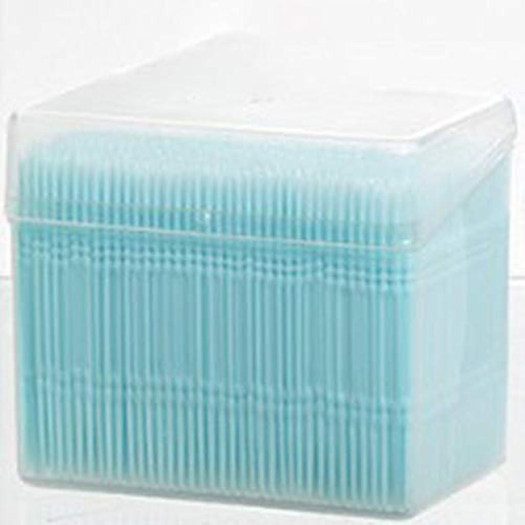 アナウンサー納屋誘惑する1100ピース/セットダブルヘッド使い捨て歯フロス衛生デンタルフロス歯間つまようじ健康用歯のクリーニングオーラルケア(Color:blue)