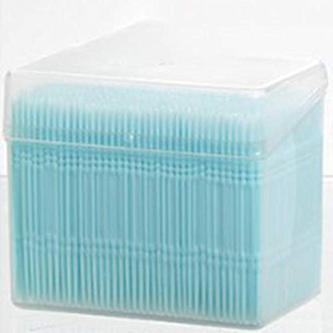 トランク師匠記念品1100ピース/セットダブルヘッド使い捨て歯フロス衛生デンタルフロス歯間つまようじ健康用歯のクリーニングオーラルケア(Color:blue)