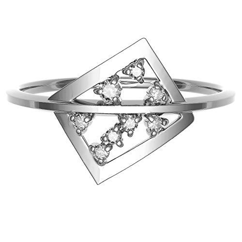[ココカル]cococaru シルバー Silver925 ダイヤモンド リング 0.04ct 指輪 2号 ピンキーリング 天然 ダイヤモンド 日本製