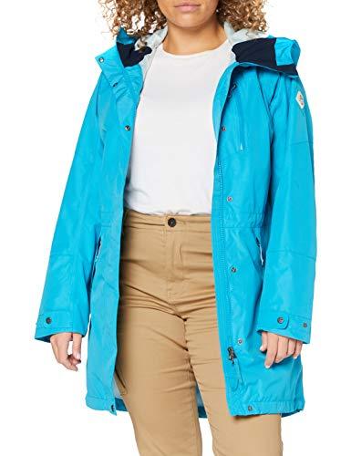 Schöffel Parka Malmö1, wasserdichte Regenjacke für Frauen mit praktischen Taschen, modische und leichte Damen Jacke für Frühling und Sommer Damen, caneel bay, 36