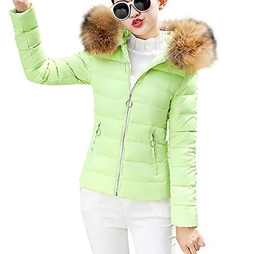 OSYARD Damen Jacken Mäntel Baumwollemäntel, Frauen Steppjacke Winter Warm Coat Outwear Mit Kapuze Kurze Slim Fit Baumwolle Gefütterte Mantel Regenjacke Winterparka Outdoorjacke Softshelljacken